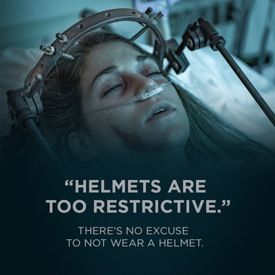Helmets are too restrictive. There is no excuse to not wear a helmet.