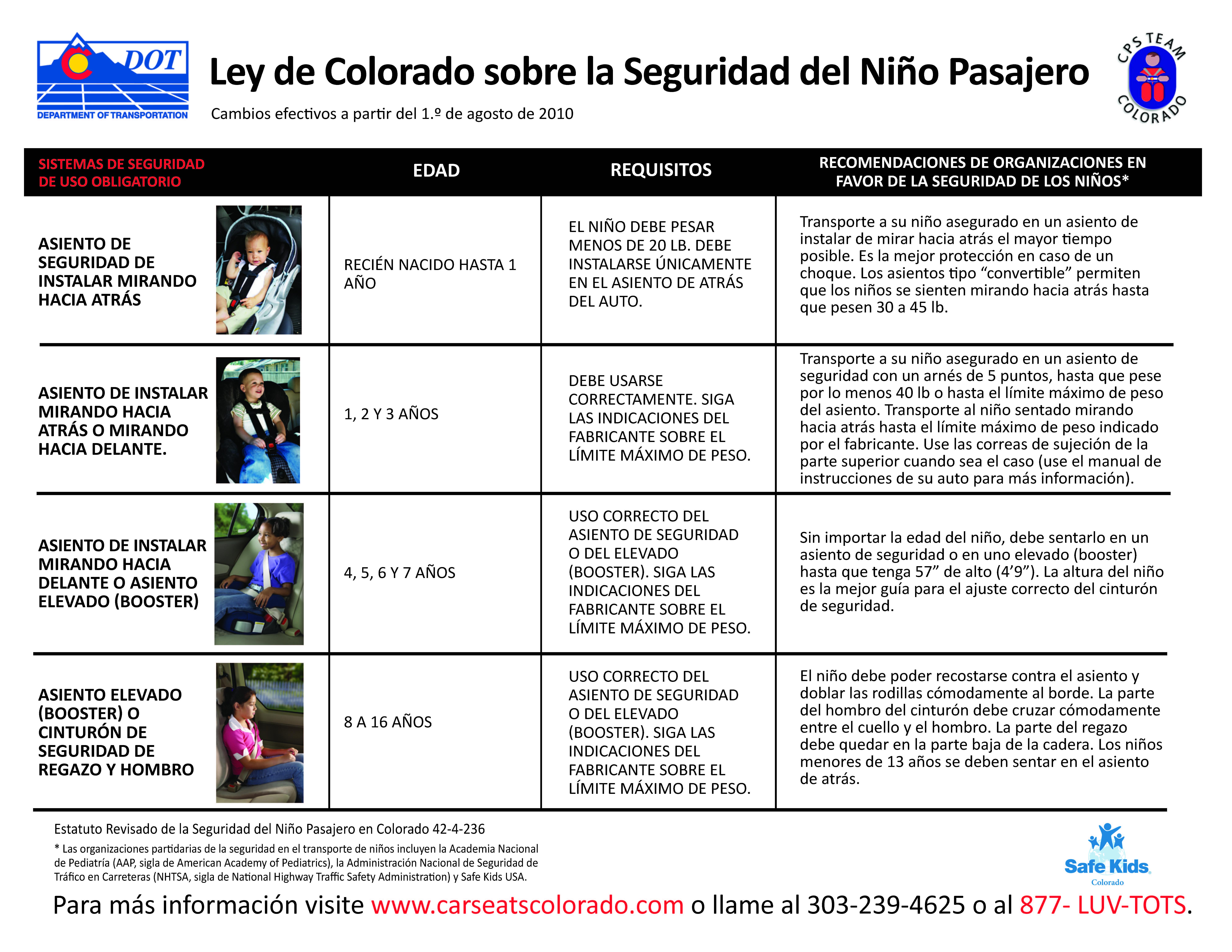 Passenger Safety Law - Spanish detail image
