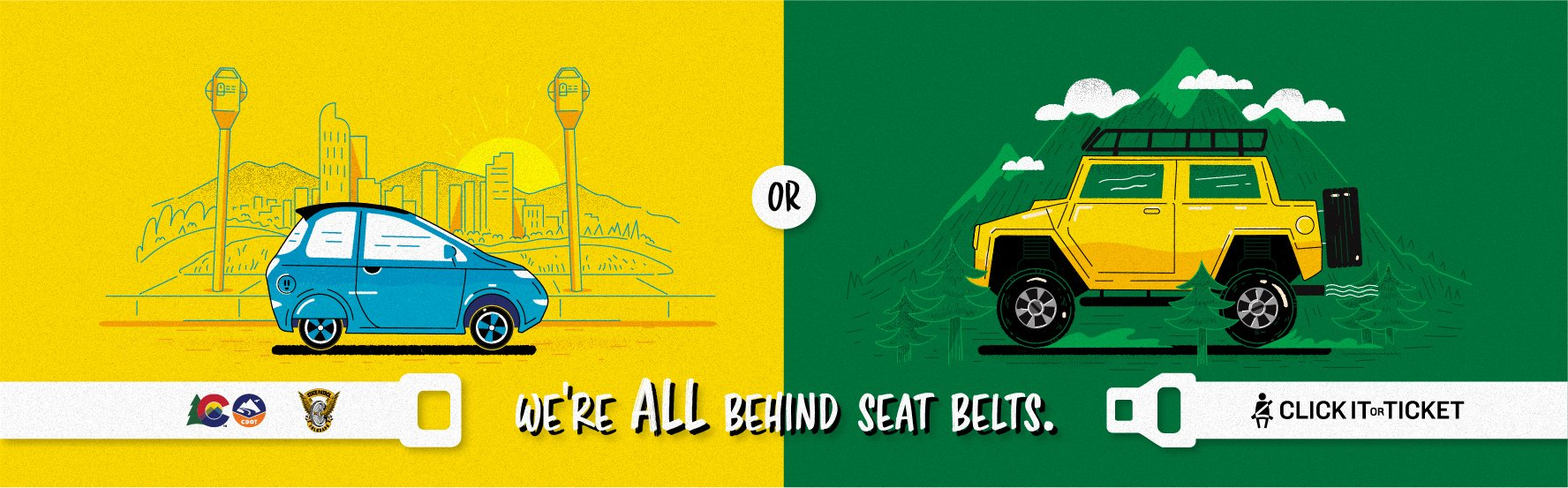 Vehicles, we're all behind seat belts, city, mountains, SUV, electric vehicle