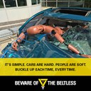 Cars hard people soft