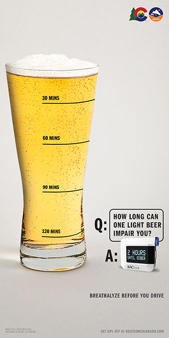 Take Some Time, How long can one light beer impair you?