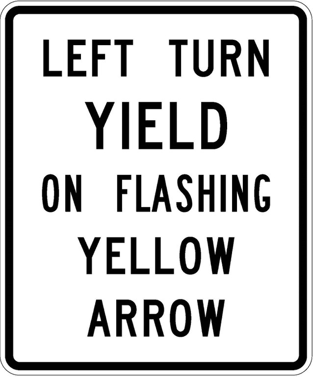 R10-27a Left Turn Yield On Flashing Yellow Arrow JPEG