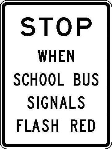 R10-50 Stop When School Bus Signals Flash Red JPEG