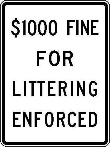 R51-1 $1000 Fine For Littering Enforced JPEG