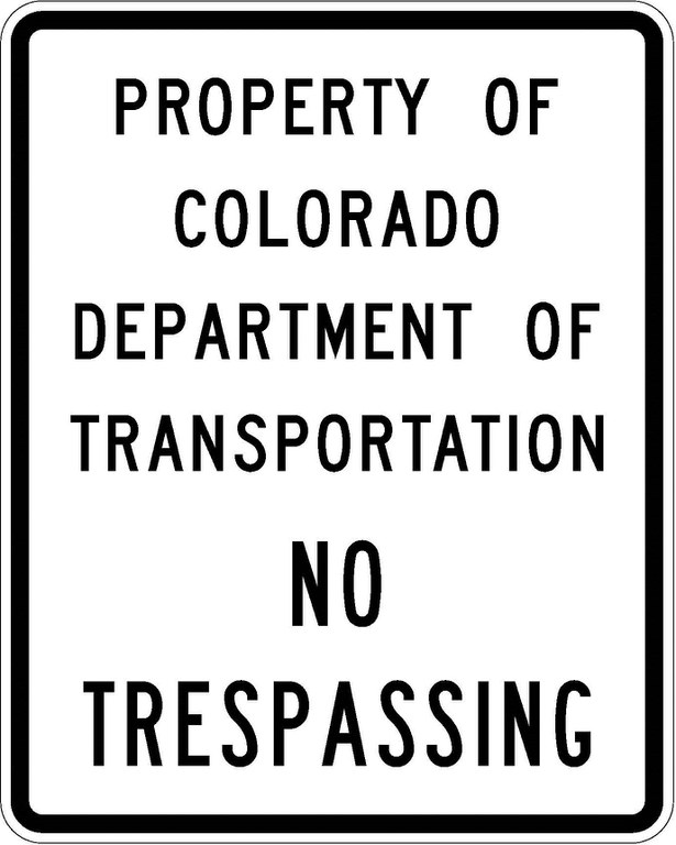 R52-1 Property Of CDOT - No Trespassing JPEG