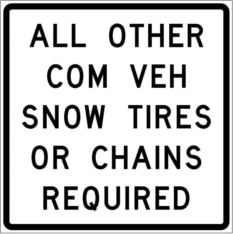 R52-10a All Other Com Veh Snow Tires Or Chains Required JPEG