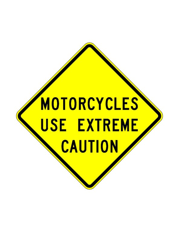W12-55 Motorcycles Use Extreme Caution JPEG