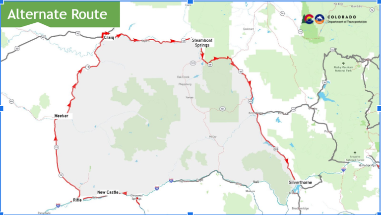 Recommended alternate closures Glenwood Canyon