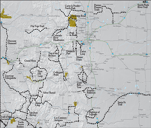 Colorado Scenic and Historic Byways – Tourist Attractions Map In Colorado