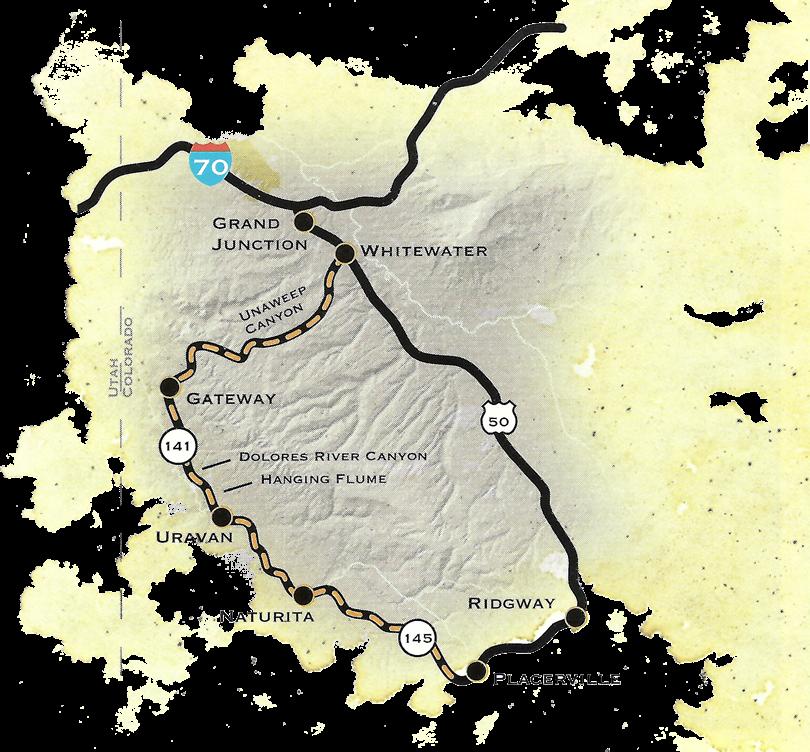 Unaweep Tabeguache Map