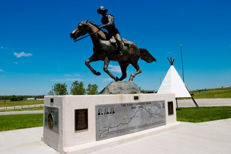 Pony Express Monument , Julesburg Welcome Center