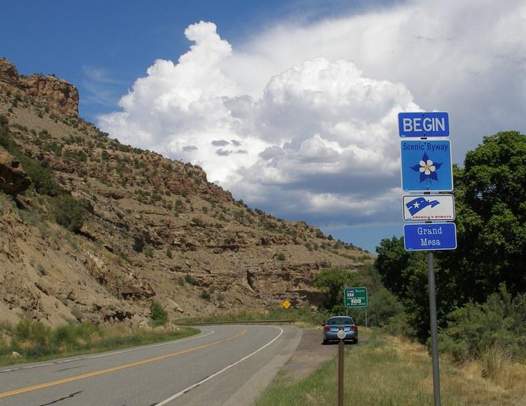 Grand Mesa Byway sign