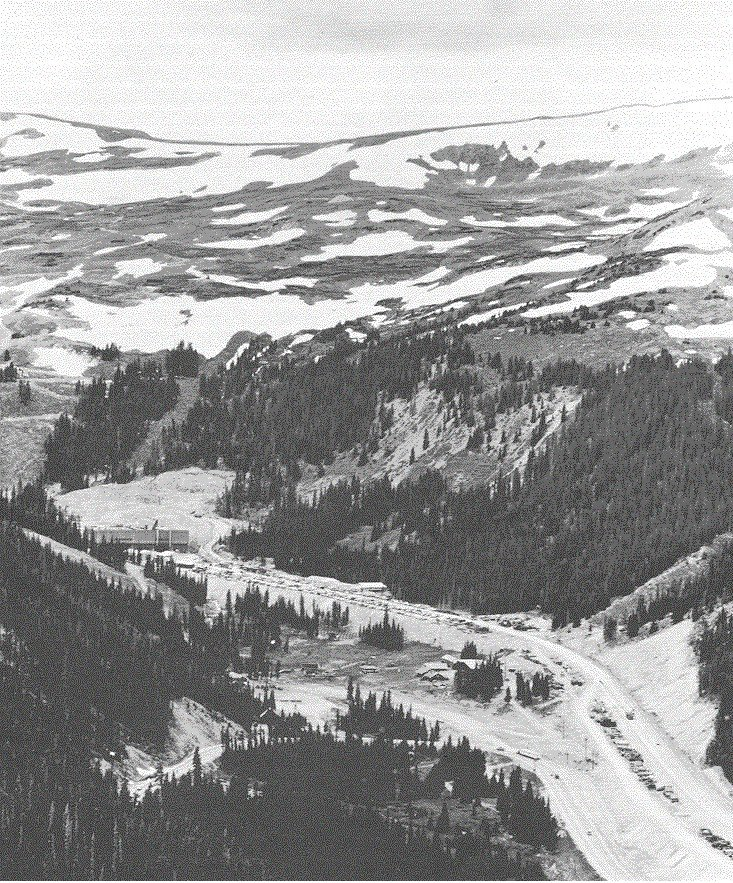Aerial view of the East Portal from Loveland Pass